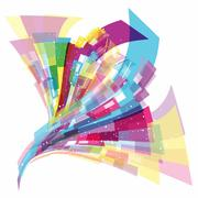 Abstract dynamic background - stock illustration