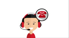 Call center design, Video Animation Stock Footage