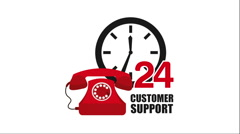 Customer support icon design, Video Animation - stock footage
