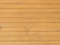 wooden pine boards - wall paneling - stock photo