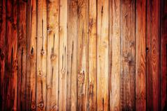 Rustic vintage wood pattern with vignette - stock photo