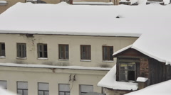 Roofs of Minsk City. Winter 4. Pan Stock Footage