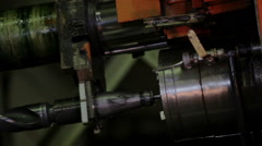 Automatic drilling machine in action Stock Footage