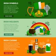 Ireland Horizontal Banners Stock Illustration