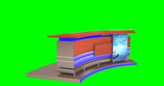 Isolated Virtual News Studio Desk Stock Footage