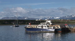 View looking towards airport of Ushuaia Stock Footage