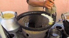 Making Jalebi in Timelapse Stock Footage