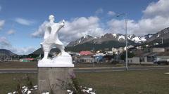 Statue of Manuel Pie de Piedra Stock Footage