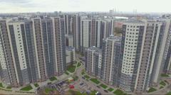 Aerial view of residential area in Saint-Petersburg Stock Footage