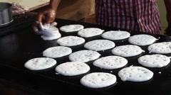 Man making Indian Breakfast  Stock Footage