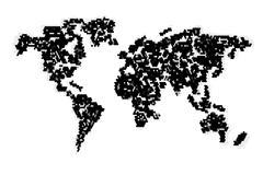 Computer graphic World map - stock illustration