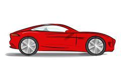 Sports car with a sleek - stock illustration
