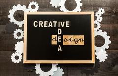 Chalkboard design concept Stock Photos