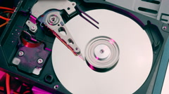 Hard drive initializing and stopping Stock Footage