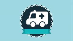 Ambulance icon design, Video Animation - stock footage