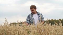Raising Crop - stock footage