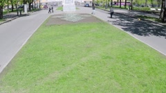 Quadrocopter shoot Square of Peter the Great in Saint Petersburg. Slow motion Stock Footage