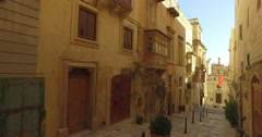 Maltese architecture, Old city, Popular touristic location Stock Footage