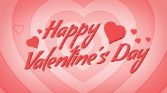 Happy Valentine's Day Loop. Motion Hearts Background Stock Footage