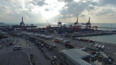 Istanbul Harem Port and Marmara Sea. Stock Footage