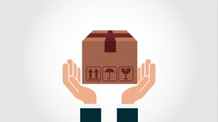 Box icon design, Video Animation Stock Footage