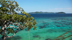 Tropical sea under the blue sky Stock Footage