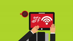 Free wifi design, Video Animation Stock Footage