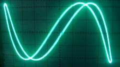 Stock Video Footage of some curves in color green