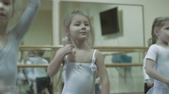 Stock Video Footage of Children dancing in dance school. Kids learning to dance