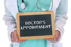 Doctor's appointment medical doctor medicine ill illness healthy health - stock photo