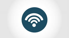 Wifi icon design, Video Animation Stock Footage