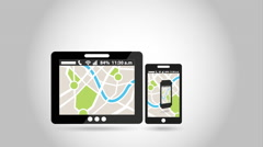 Gps service design, Video Animation Stock Footage