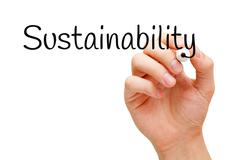 Sustainability Black Marker - stock photo