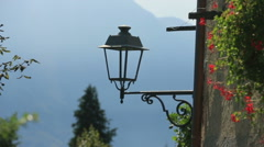 Old Street Lamp in Como Italy Stock Footage