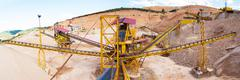 Gravel aggregate extraction - stock photo