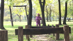 Fitness woman outdoor  - stock footage