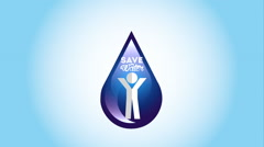 Water icon design, Video Animation Stock Footage