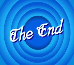 the end Movie ending screen - stock illustration