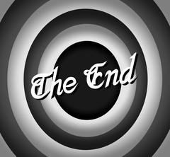 The end Movie ending screen Stock Illustration