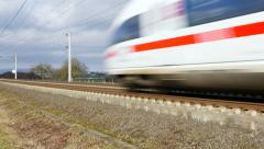 German highspeed ICE train Stock Footage