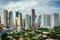 View of the skyline of Makati in Metro Manila, The Philippines. Kuvituskuvat