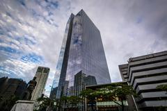 Modern skyscraper in Makati, in Metro Manila, The Philippines. Kuvituskuvat