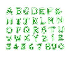 Font Sketch Hand drawing letters Stock Illustration