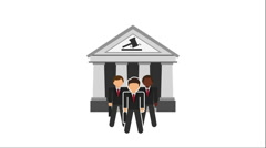 Justice and law design, Video Animation Stock Footage