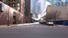 North Illinois Avenue in downtown Chicago 4k Stock Footage