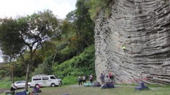 Group of Rock Climbers 5 - stock footage