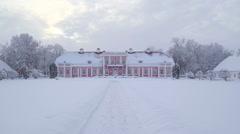 Zoom in view of the Sagadi manor in Estonia Stock Footage