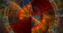 4K format abstract multicolored motion background seamless looping fractal Stock Footage