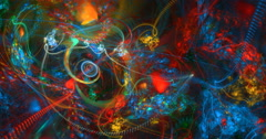 4K  abstract multicolored texture motion background seamless looping fractal Stock Footage