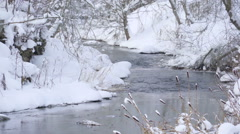 The snow on the lake in Vihula Stock Footage